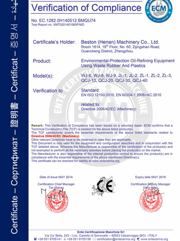 Beston Certification