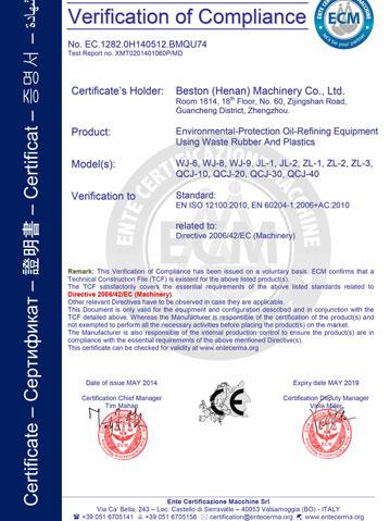 Beston Certification