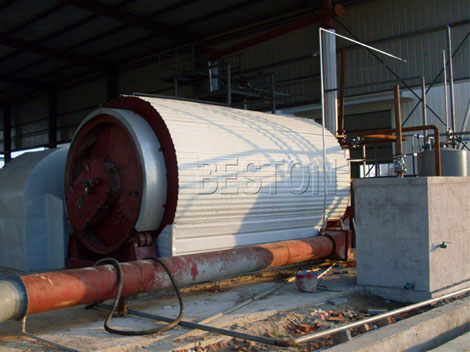Beston Rubber Pyrolysis Plant
