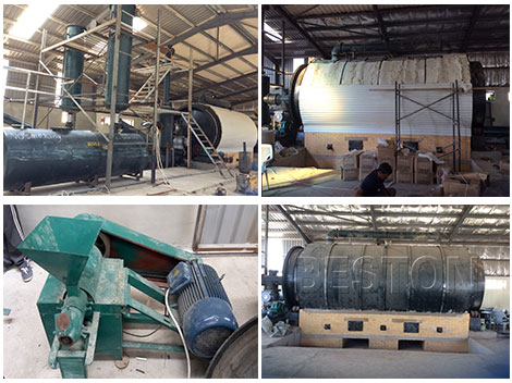 Beston Tyre Pyrolysis Plant was Installed in Jordan