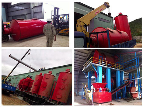 Beston biomass pyrolysis plant in Vietnam