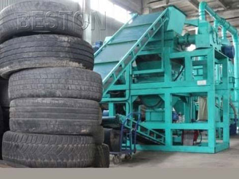 Beston tyre recycling machine