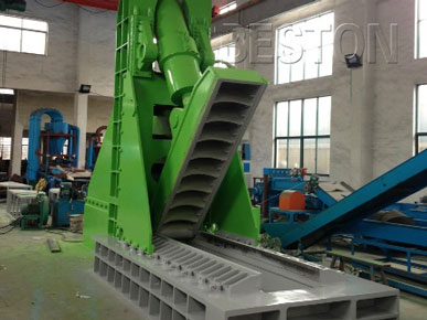 Jaw Type Cutting Machine of Rubber Recycling Plant