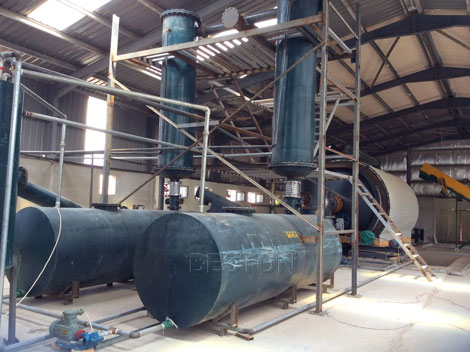 condensing system of Plastic to fuel conversion plant