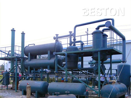 Waste Tires Oil Refining Equipment With High Oil Yield