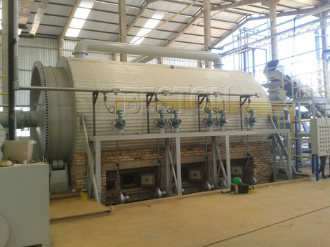 waste tyre pyrolysis to oil