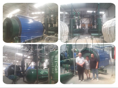 Small scale tire pyrolysis plant
