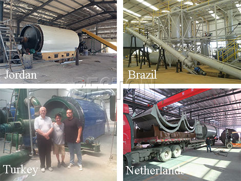 Tyre Pyrolysis Plant Exported Cases