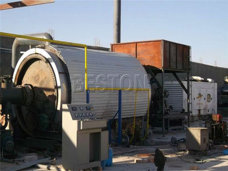 Tyre pyrolysis oil plant