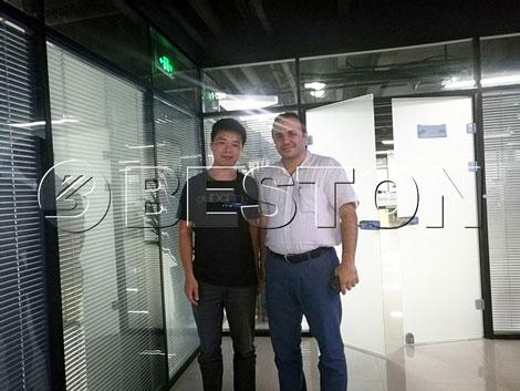 Iran Customers & Beston Sales Maneger Henry