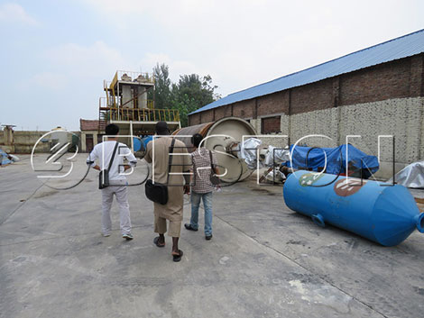 Senegalese Customers Visit Beston Waste Pyrolysis Plant