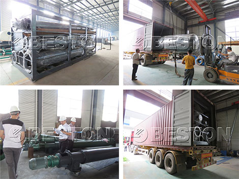 Beston Waste Pyrolysis Plant was Shipped to Korea