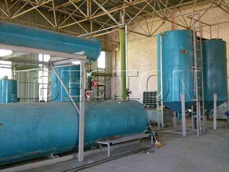 BZJ-10 Waste Oil Distillation Plant Installed in Ukraine