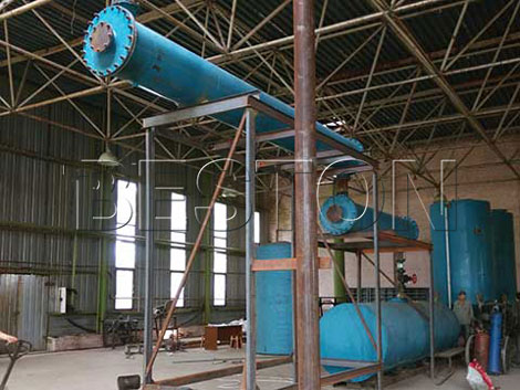 Beston 10T Waste Oil Recycling Plant in Ukraine