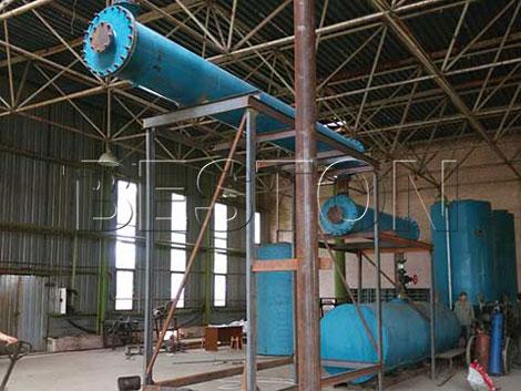 Beston 10T Waste Oil Recycling Plant in Ukraine