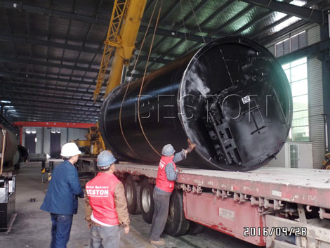 Beston Pyrolysis Plant Shipped to Korea