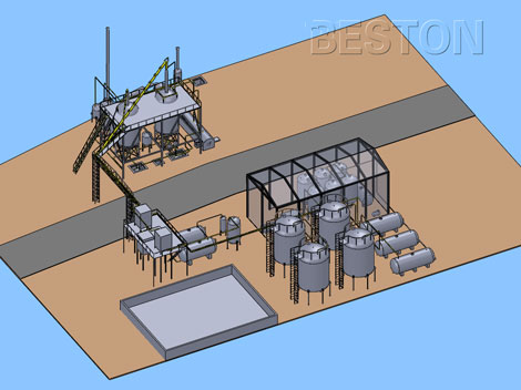 Entire Distillation Plant