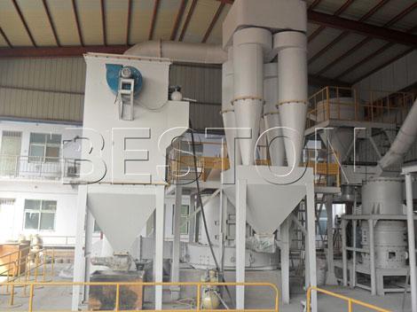 carbon black processing plant