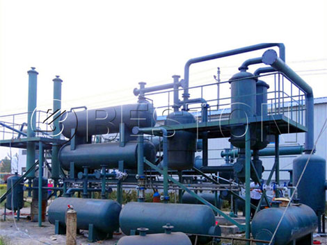 Continuous Oil Distillation Recycling Plant