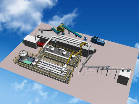 Fully automatic pyrolysis plant