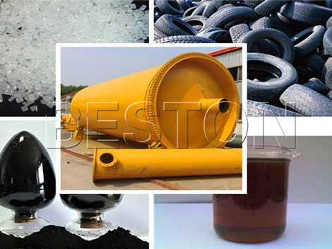 Pyrolysis Waste Tires into Fuel Oil