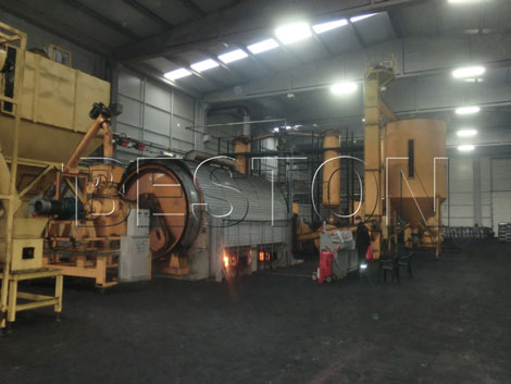 Waste Tire Pyrolysis Recycling Production Line