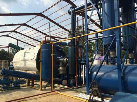 sewage sludge pyrolysis plant
