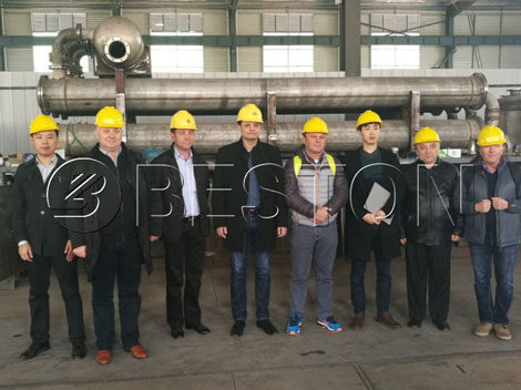 Romania Costumers Came to Visit Beston Continuous Pyrolysis Plant