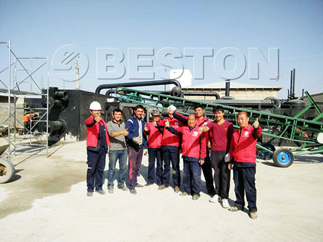BLL-30 Waste Plastic Pyrolysis Plant Installed in Uzbekistan