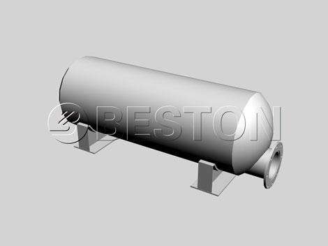 3D drawing of oil residue tank