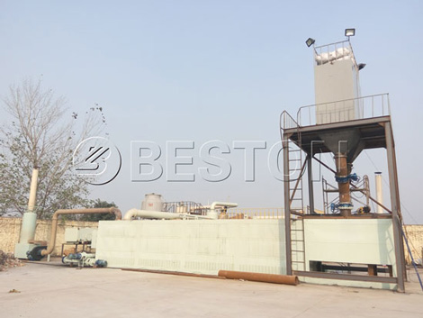 BLL-20 plastic recycling pyrolysis machine for sale
