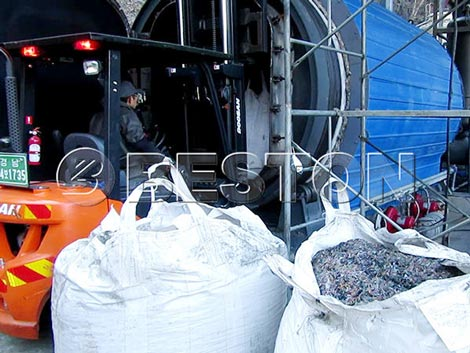 Plastic Recycling Pyrolysis Machine For Sale in Korea