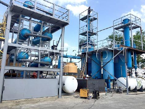 Waste-Plastic-Recycling-Pyrolysis Machine-in-Dominican