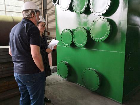 England Customer Inspect Plastic Recycling Machine