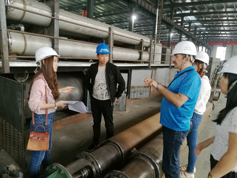 Russia Customer Visit BLJ-6 Plastic Recycling Machine