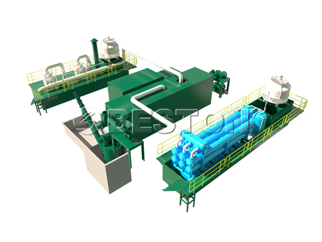 Waste Plastic Pyrolysis Plant-3D Models