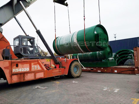 BLJ-10 Pyrolysis Plant Was Shipped to Canada
