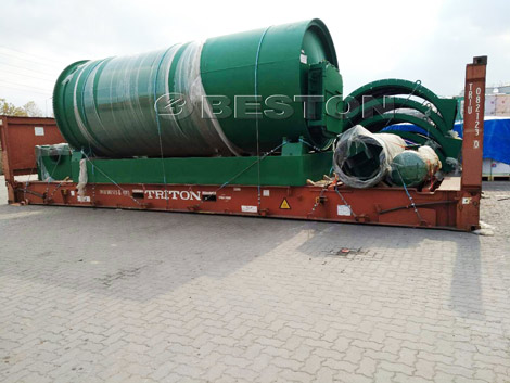 Waste Plastic Pyrolysis Plant Was Delivered to Canada