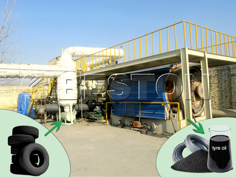 Waste Tires Pyrolysis to Oil Plant