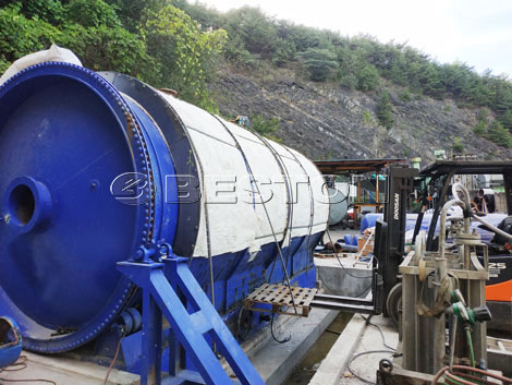 Plastic Recycling Pyrolysis Plant For Sale in Korea