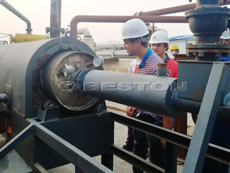Russian Customers Visited Pyrolysis Plant