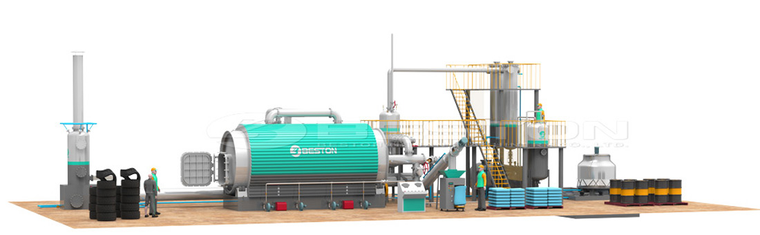 Waste Tyre Recycling Plant With Competitive Price