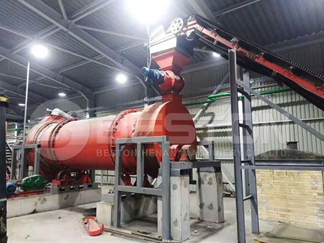 BST-50 Sawdust Charcoal Making Machine In Ukraine