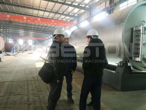 Chile Customers In Pyrolyis Plant Factory