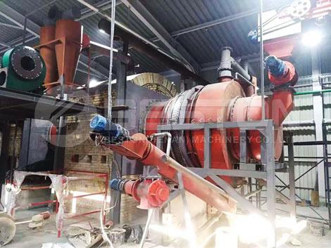 Working Sawdust Charcoal Making Machine