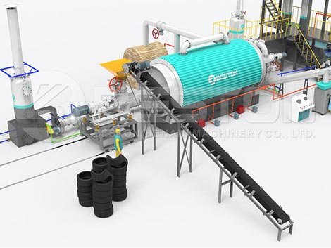 Fully Continuous Waste Tyre Recycling Plant