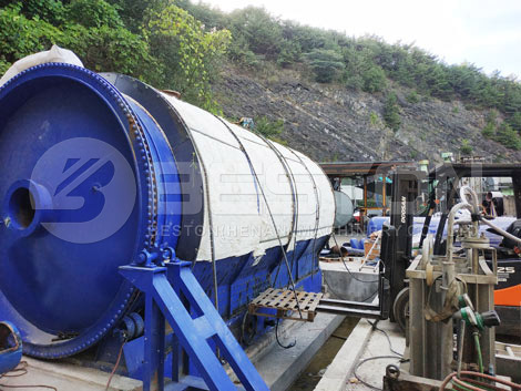 Rubber Pyrolysis Plant Installed In Korea