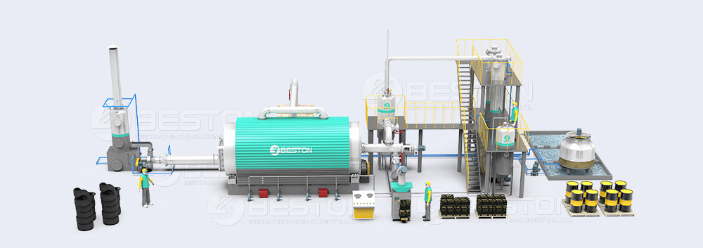 Small Pyrolysis Plant 3D Drawing