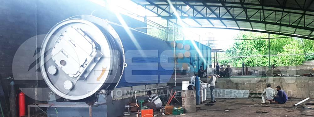 BLJ-6 Pyrolysis Plant Installed in Zimbabwe