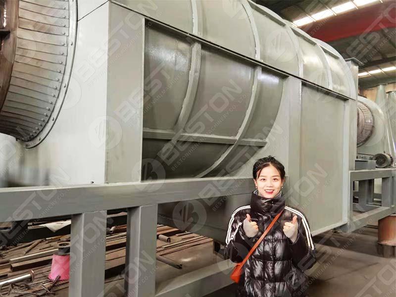 Rice Husk Charcoal Machine to Brazil